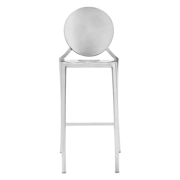 Glam Bar Stool - Silver