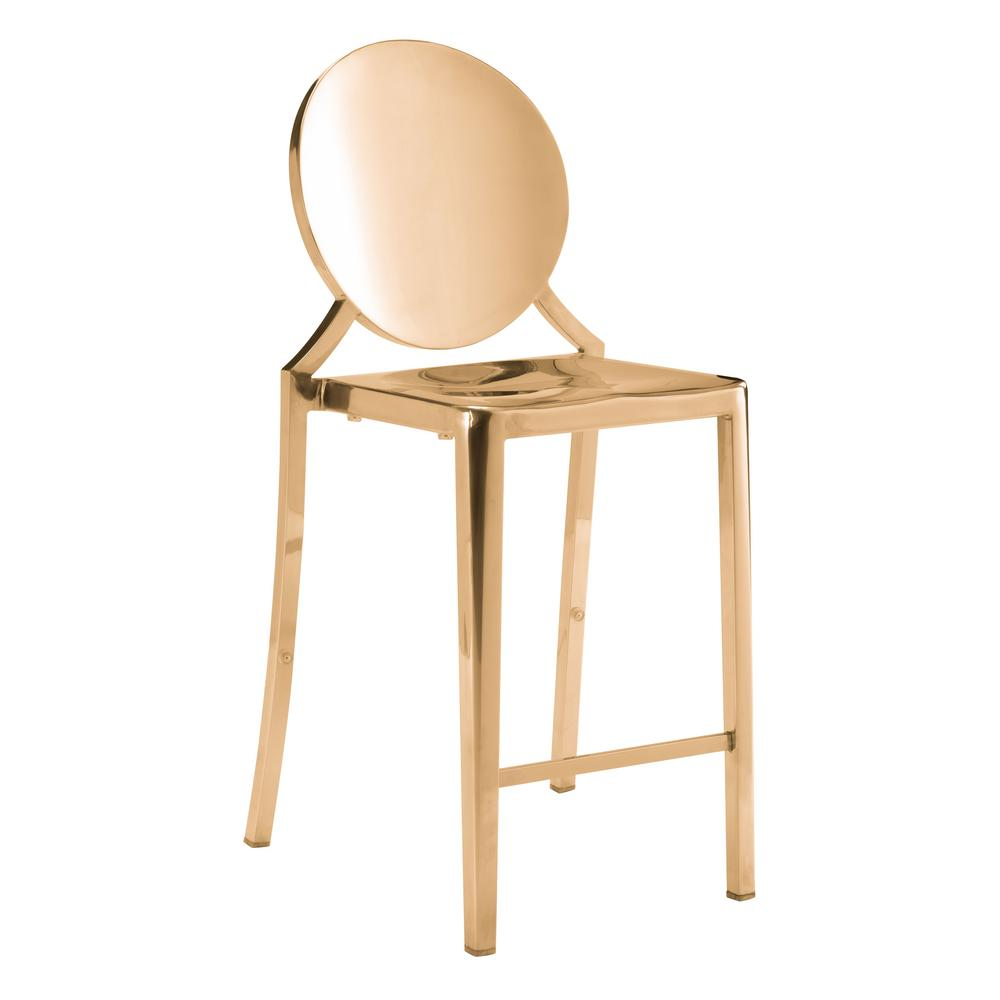 Glam Counter Stool - Gold