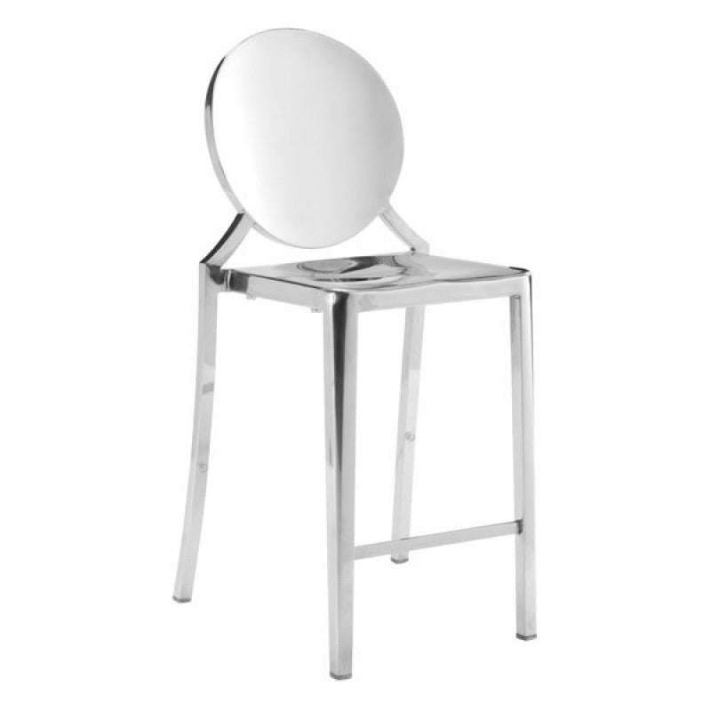 Glam Counter Stool - Silver