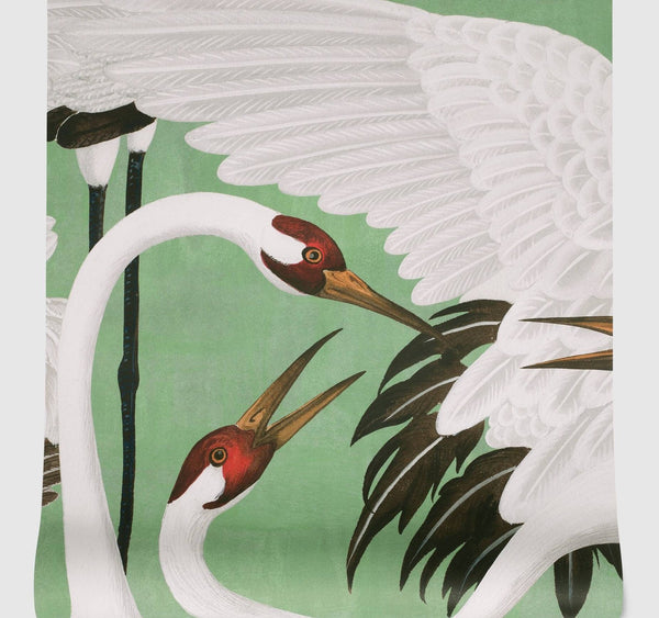 Gucci Heron Print Wallpaper - Green