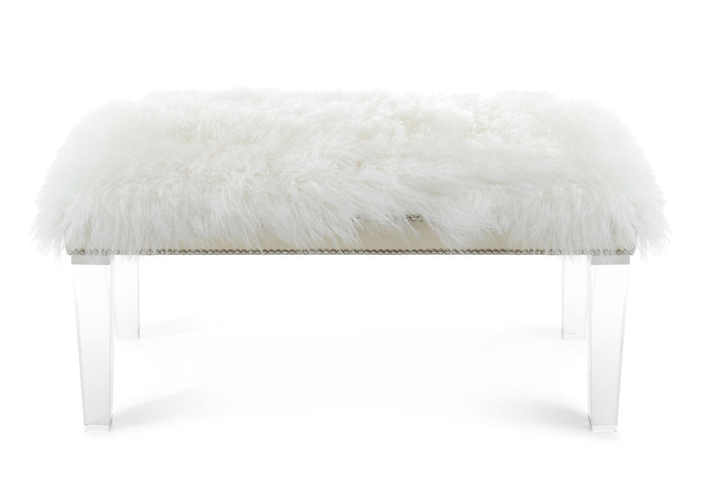 sheepskin home bench garden product overstock swift free today shipping