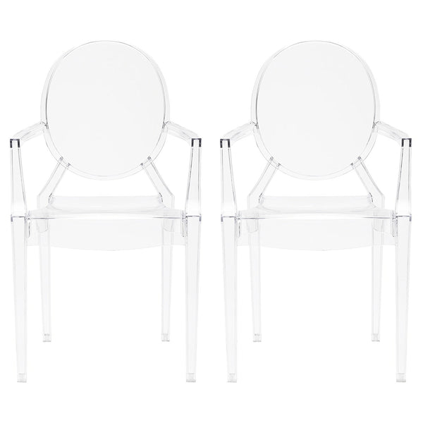 Louis Ghost Arm Chair - Pair