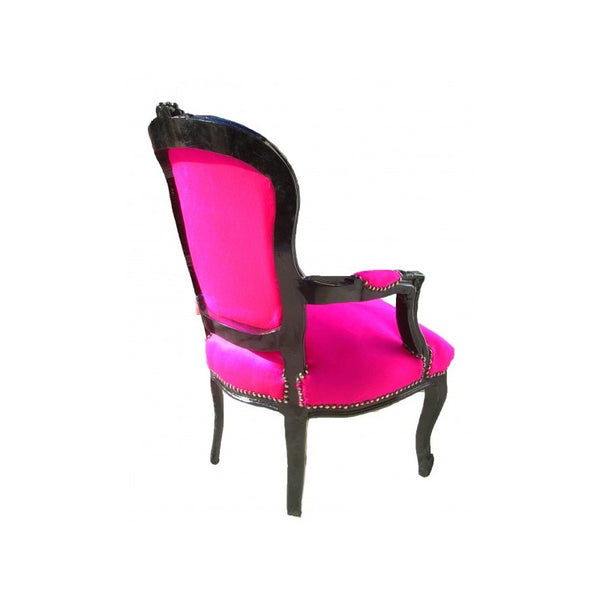 pink and black chair