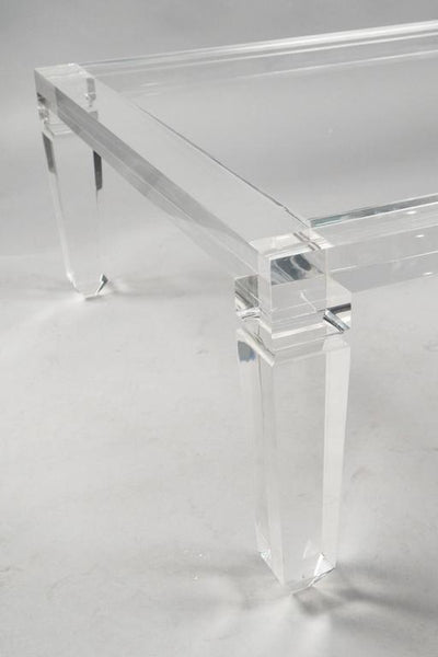 "54"" Palm Beach Lucite Coffee Table"