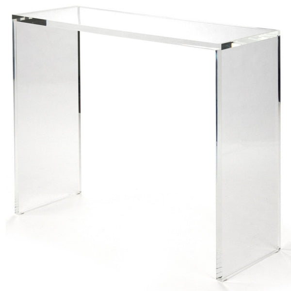 Luxe furniture palm beach parsons lucite console table
