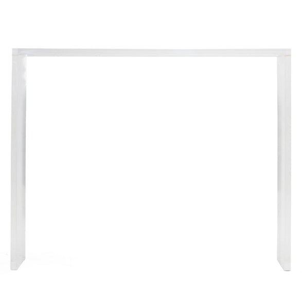 Luxe furniture Lucite console table in parsons style
