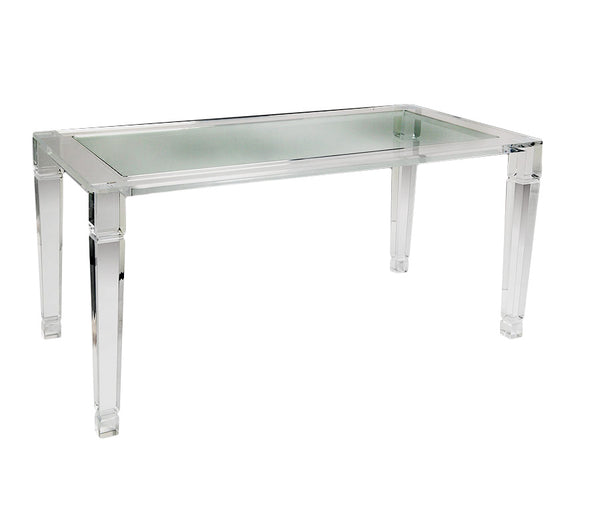 "84"" Manhattan Lucite Dining Table"