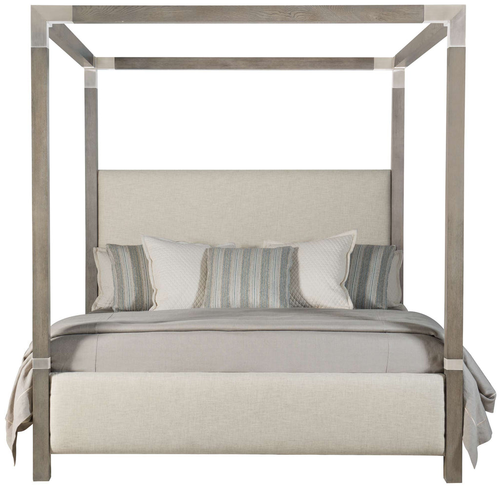 Palma Upholstered Canopy Bed - King