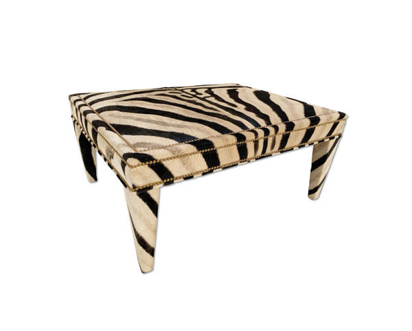 Zebra Ottoman - Square - Choice of Size