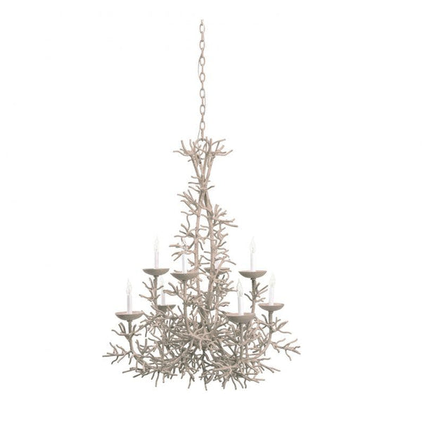 Cordelia Coral Chandelier - Lace White
