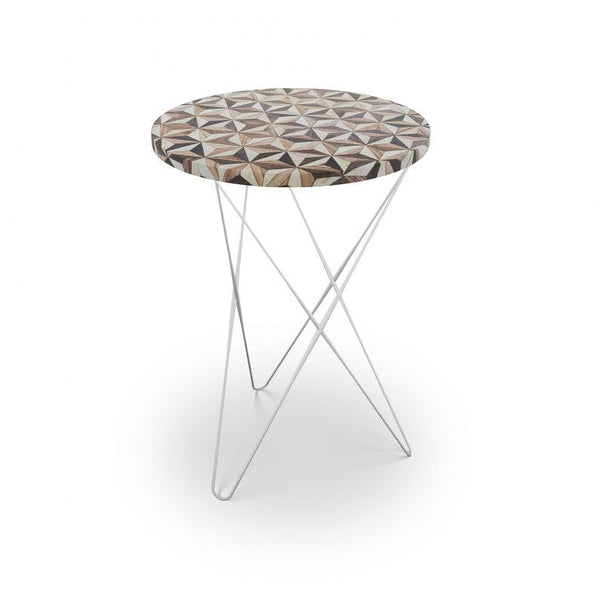 Troy Table - Choice of Base - Brass or Nickel