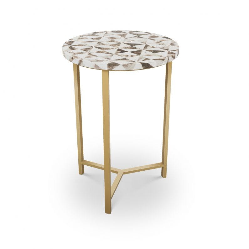 Pavonia Table - Choice of Base - Brass or Nickel