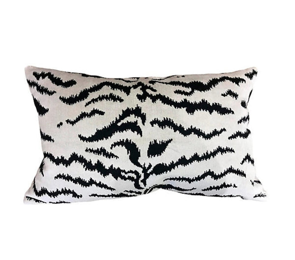 Tigre Pillow - Black & White Velvet