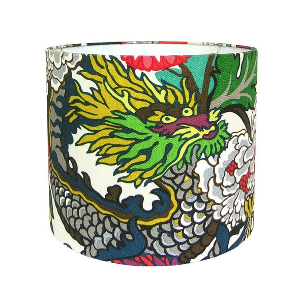Chiang Ming Chinoiserie Drum Style Lamp Shade