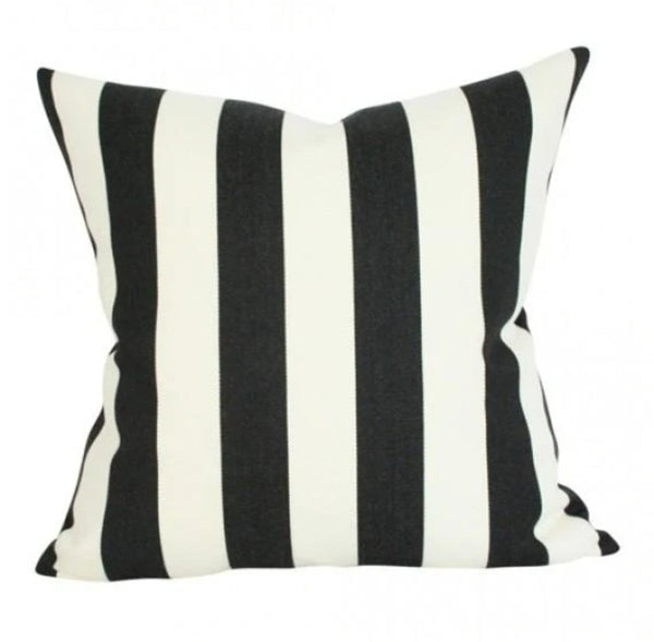 Black and white stripe throw pillow