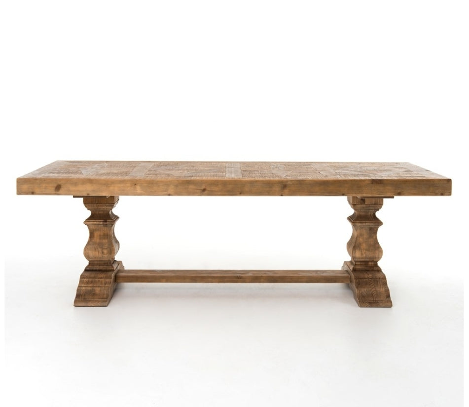 Castle Trustle Dining Table - Bleached Pine
