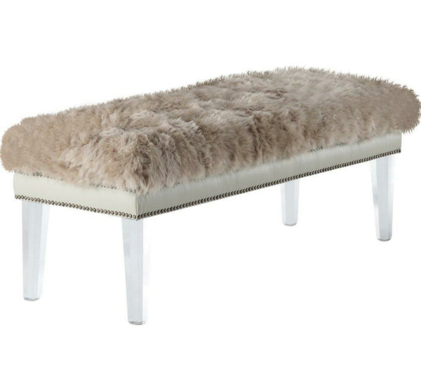"Sheepskin Bench - 60"" - Choice of Color"