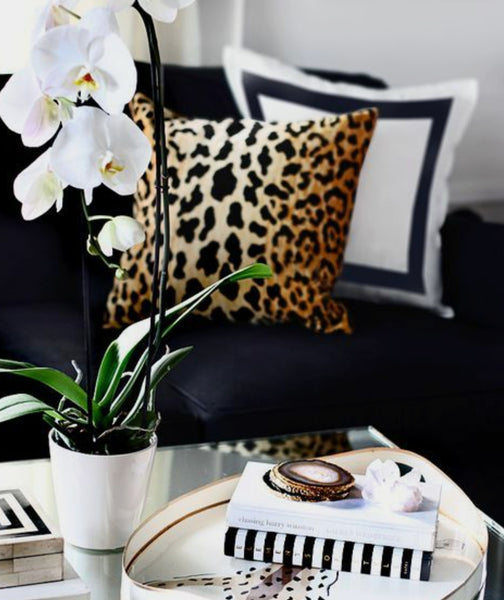Animal print throw pillow at luxefurniture.net