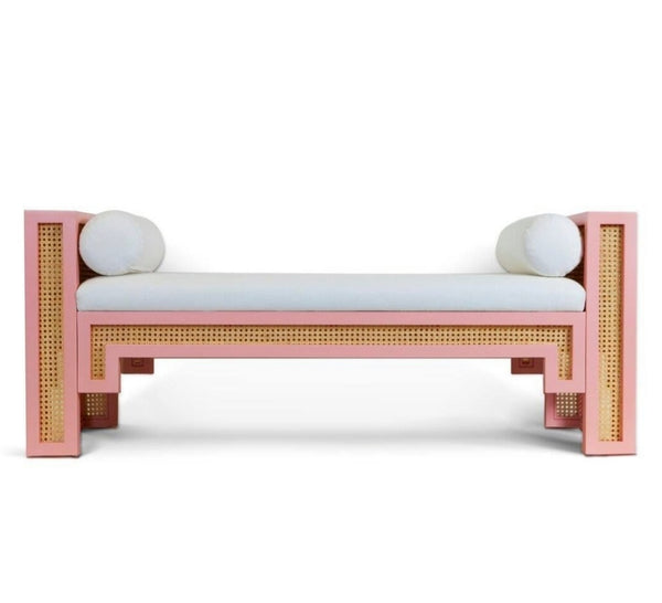 Alexandra Bench - Optic White Linen
