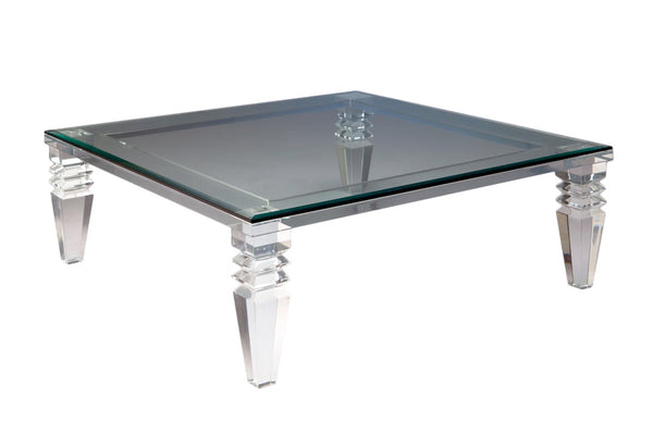 "54"" Portofino Lucite Coffee Table"