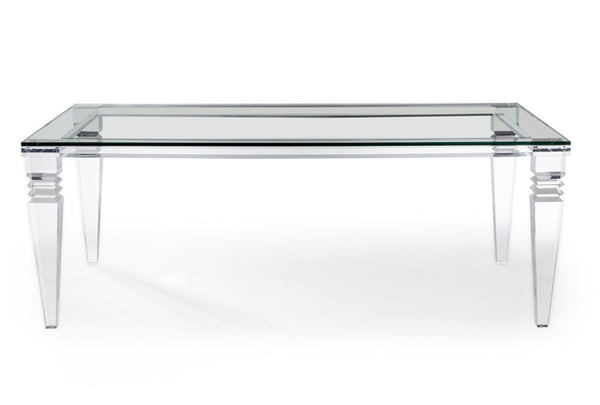 acrylic lucite and glass dining table