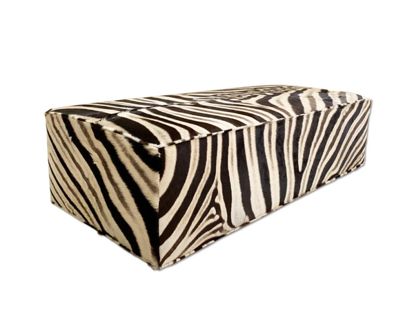 Zebra Ottoman - Rectangular - Choice of Size