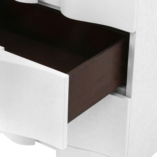 Bardot 3 Drawer Side Table - White