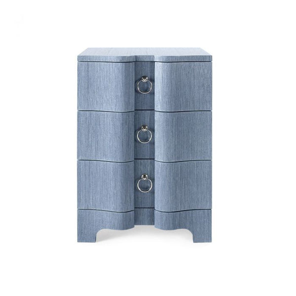 Bardot 3 Drawer Side Table - Navy Blue
