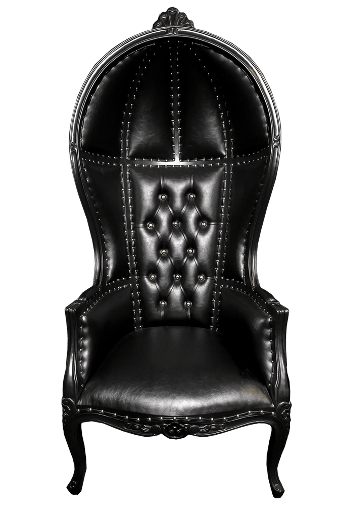 Iron Maiden Canopy Chair - Black on Black