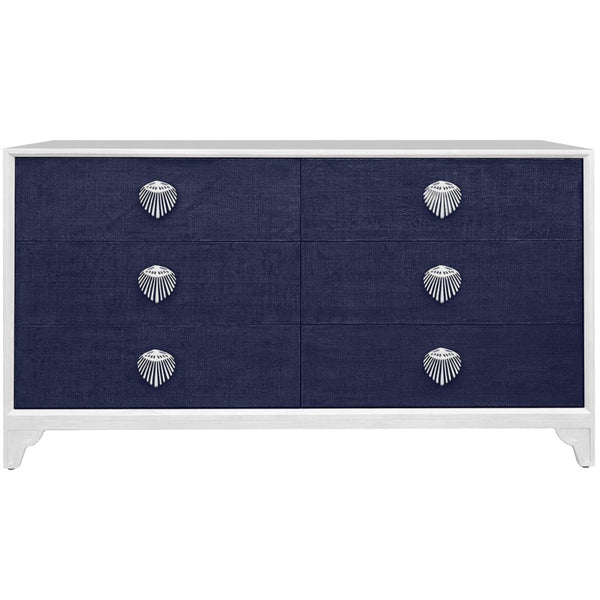 Shanghai 6 Drawer Dresser - Navy
