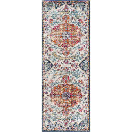 Harput Rug - Cream/Pink/Orange/Blue
