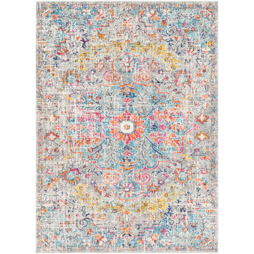Harput Rug - Grey/Pink/Orange/Blue