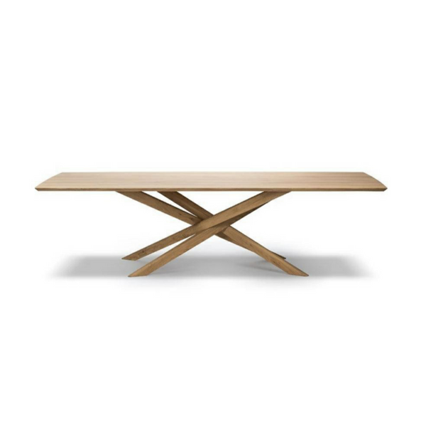 Modern Rectangular Oak Mikado Dining Table