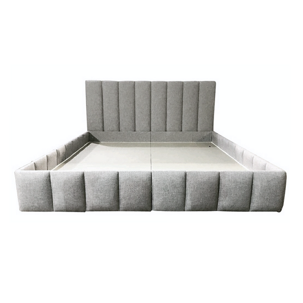 "40"" High Channel Tufted Upholstered Bed - Choice of Size and Fabric"