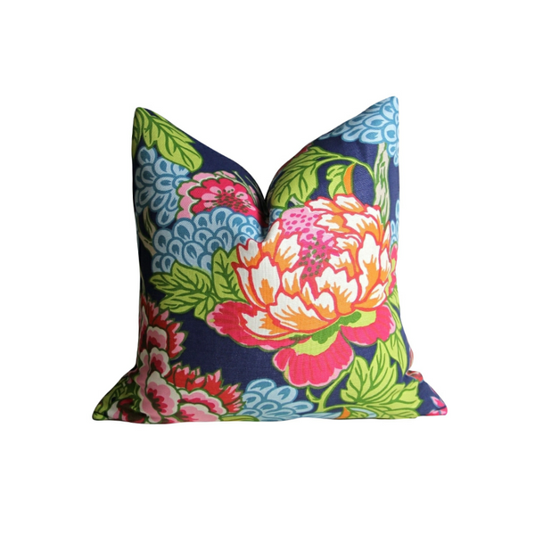 Honshu Pillow - Blue and Pink