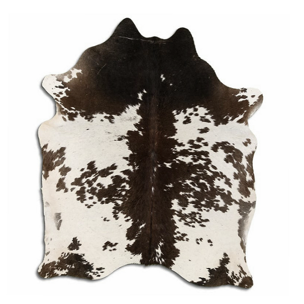 Designer Hide Rug - Brown and White Speckled