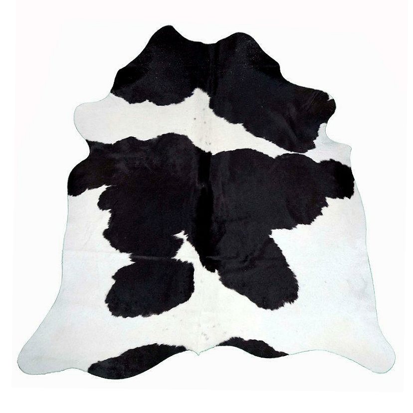 Designer Hide Rug - Black and White