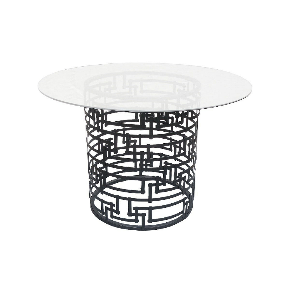 Yvan Geometric Base - Black Steel