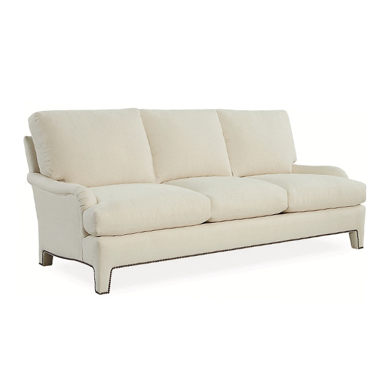 Sunset Sofa - Antique White Linen