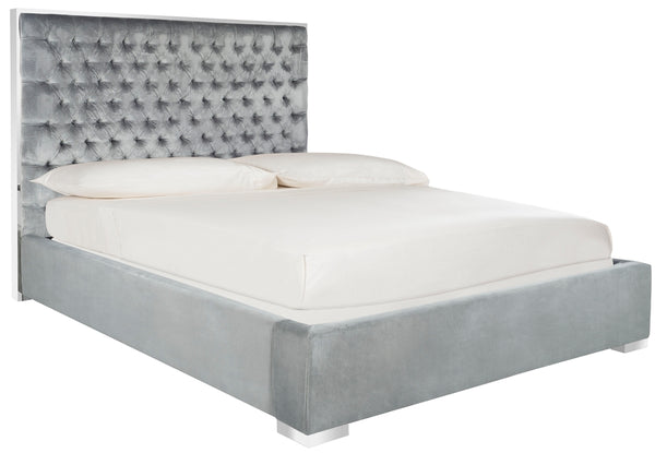 Chesterfield Upholstered Bed - Bella Blue
