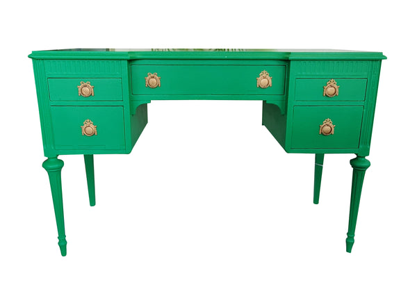 Kelly Green French antique desk