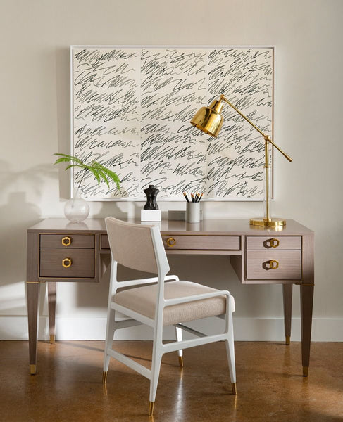 Morris Desk - Taupe Gray