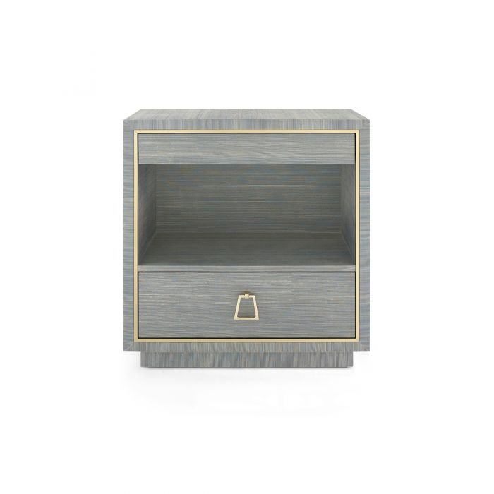 Parker 2 Drawer Side Table - Slate Blue