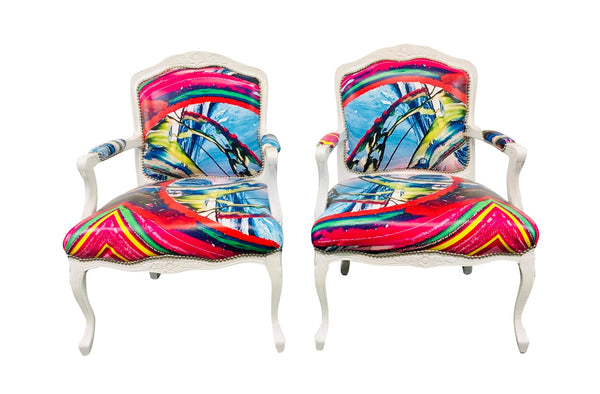 Abstract Arts Chairs - Pair