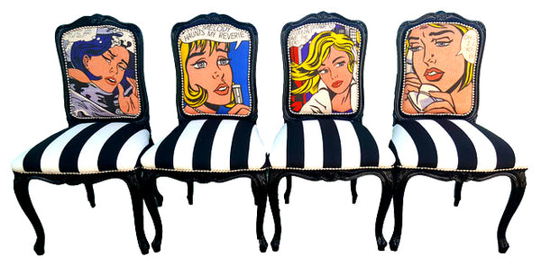 Pop Art Chairs - Set of 4