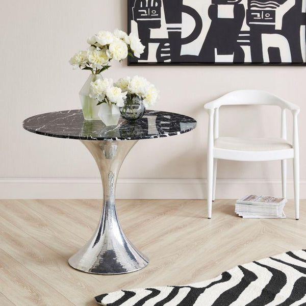 Stockholm Dining Table Base - Nickel