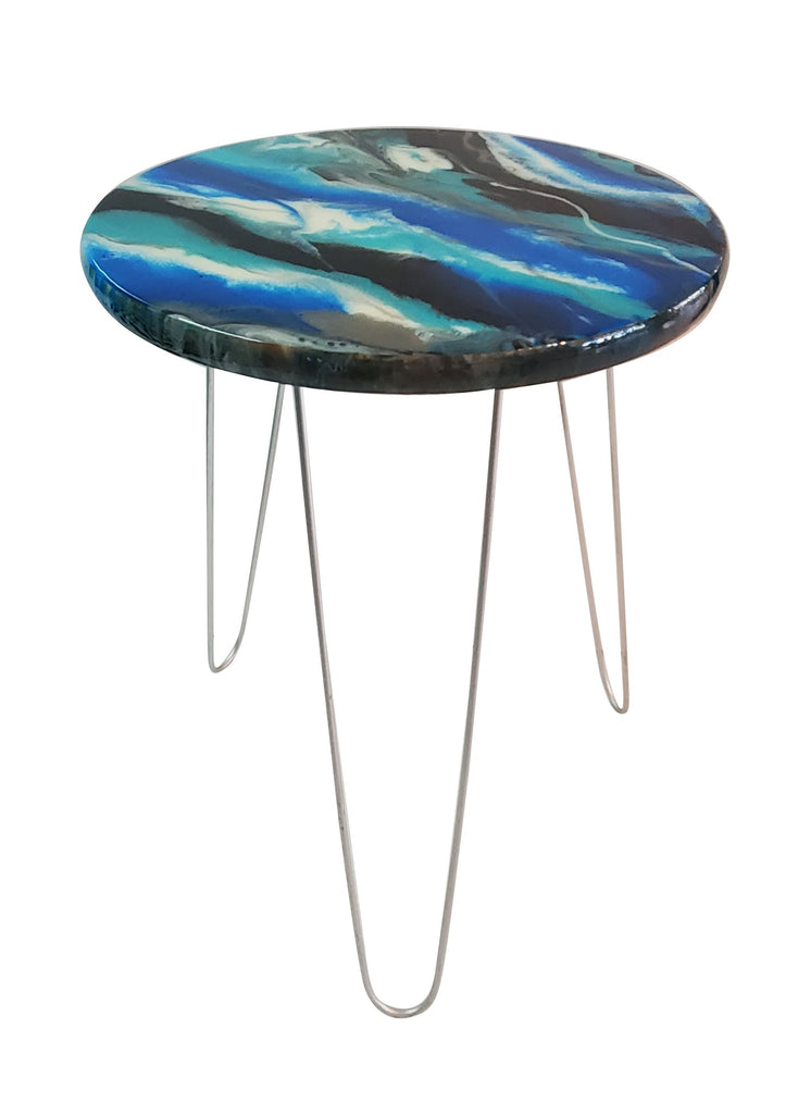 Resin Art Side Table