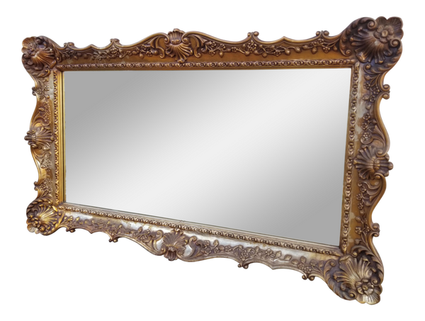 Gilded Ornate Carved Mirror - Gold