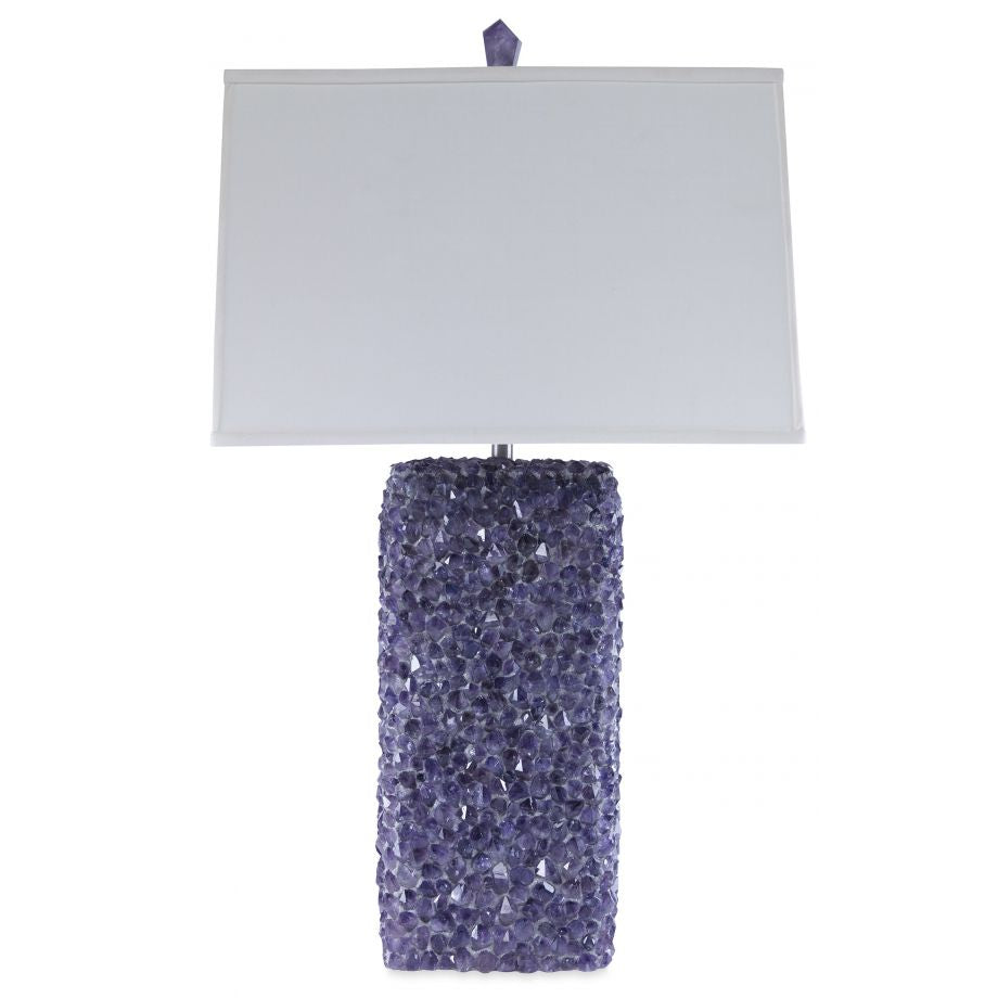 Electra Amethyst Crystal Table Lamp