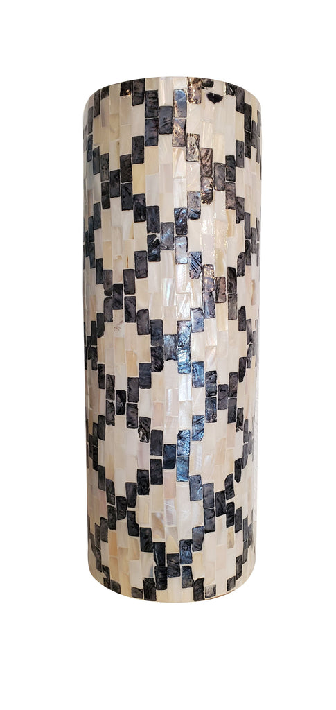 Tall Mother of Pearl & Abalone Shell Vase